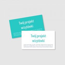Twój własny projekt wizytówki jednostronnej lub dwustronnej.